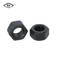 Din934 black finished  carbon steel hex nut