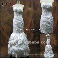 RSW76 Free Shipping Luxurious Beading Taffeta Wedding Dress