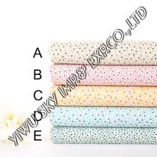 Conception multicolore de points pour le tissu imprimé par polyester du marché européen
