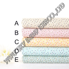 Multicolor Dots Design for European Market Polyester Printed Fabric