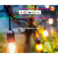 Chaîne de LST-184 s'allume avec les ampoules clairs, les lumières énumérées par UL d'arrière-cour de patio, accrochant la lumière d'intérieur / extérieure de ficelle