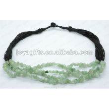 Collar verde de la piedra preciosa de la viruta de Aventurine