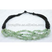 Ожерелье из зеленого авантюринового кристалла