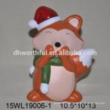 Керамическая игрушка из лисы для домашнего декора