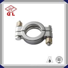 Abrazadera de tubo de alta presión sanitaria de acero inoxidable