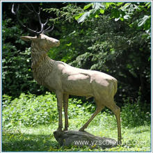 Brass Life Size Deer Statue For Decoration