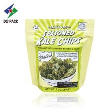 Chips Doypack avec sac d'emballage en aluminium à glissière