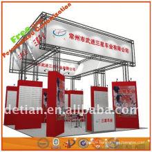 Exposition attrayante jaune d'exposition de produit d'exposition pour le commerce de Changhaï