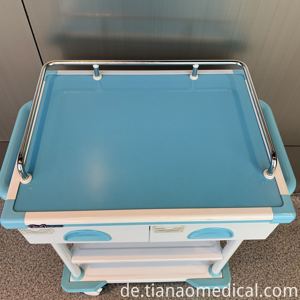 Hospital Steel Practical I.V. Trolley Cart