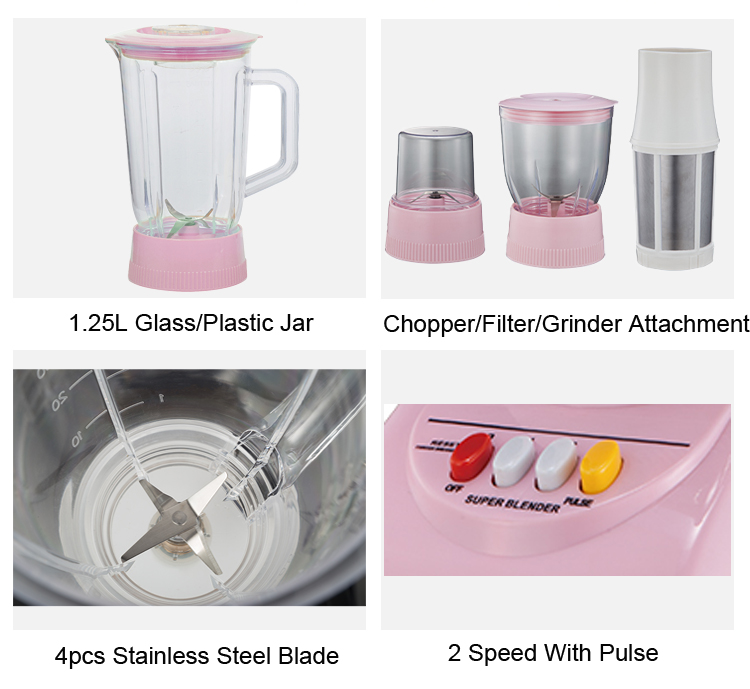 1.25L Kitchen Blender With Glass Jar