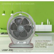 14 Inch Portable Oscillating Box Fan (USBF-830)