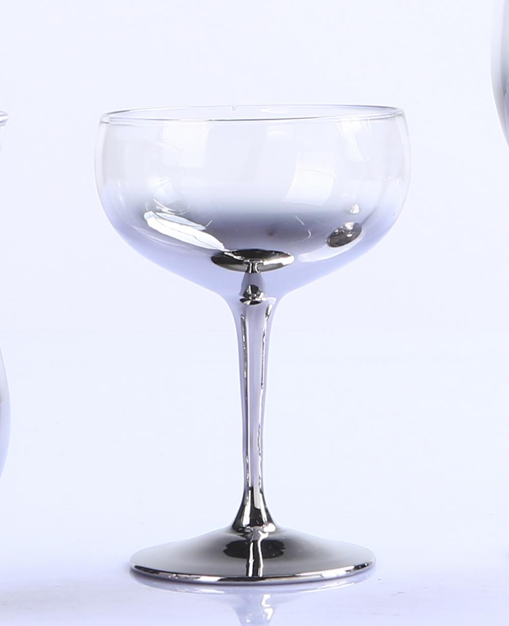 Br 9987 4metallic Silver Wine Glassglass Goblet