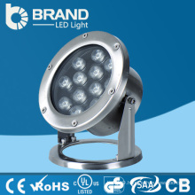 China Stainless Steel DMX512 Control 12*1W IP68 LED Pool Light,12W Pool LED Light