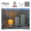 3pc LED Flameless Candles 12 Mudança De Cor