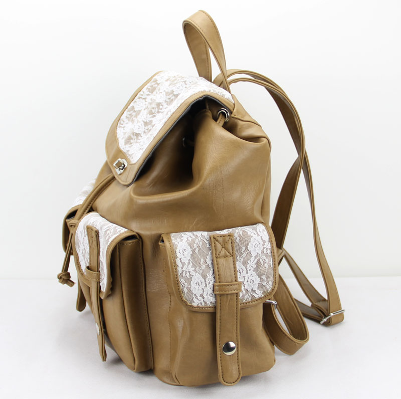 Vintage College Leather Lace Backpacks
