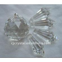 Cristal gota perlas de la boda de la decoración