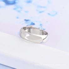 Xuping anel redondo clássico com ródio chapeado