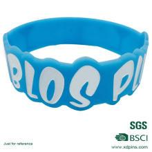 Kundengebundenes blaues Farbsilikon-Material-Manschette