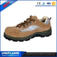 Camurça couro pu sola de aço toe tampa de segurança de trabalho sapatos