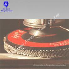 disco de aleta con recubrimiento abrasivo T27