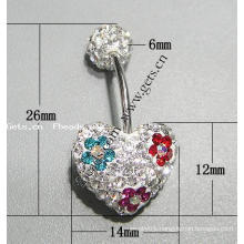 Gets.com crystallized belly ring with hook