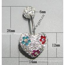 Gets.com кристаллизованное кольцо живота с крючком