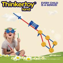 Пластиковые игрушки DIY образования для детей пластиковые игрушки блока
