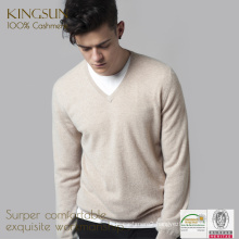 Mens' Cashmere Knitwear, 100% Cashmere Fitness Sweater, Casual Knitted