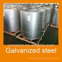 Alta calidad galvanizado acero bobina recubrimiento de Zn: 50g - 180g