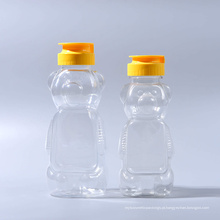 330g Pet plástico Bear forma de garrafas de mel com tampas de válvula de silicone (EF-H03330)