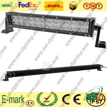 Barra de luz LED todoterreno de 3PCS * 24W, barra de luz curva LED de 19 pulgadas, barra de luz LED Creee