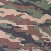 Tecido de camuflagem de sarja de algodão para uso militar (16X12 / 108X56)