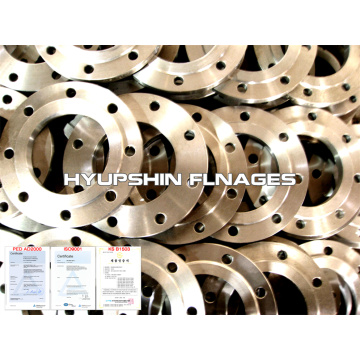 Slip Plat Flensa pada Raised Face Steel