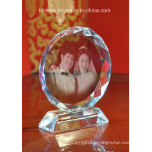 Marco de fotos de cristal cristalino para regalos de cristal