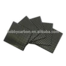 1.0mm 400X500mm , cnc parts for Drone , 3K UD twill matte full carbon fiber sheet