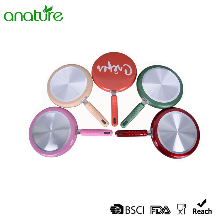 Pressed Ceramic Mini Silk Screen Induction Fry Pan