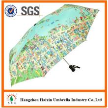 Mapa de impressão especial promoção guarda-chuva com logotipo