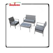 Ensemble de sofa de meubles de jardin d'osier de rotin de 4 PCs de loisirs, sofa de rotin utilisé à vendre