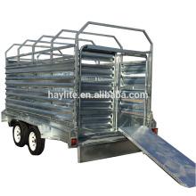 Remolque de ganado de acero galvanizado para servicio pesado de alta calidad Remolque de ganado