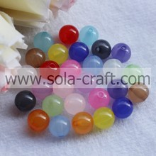 Wholesale Popular Transparent Acrylic Jelly Round Beads