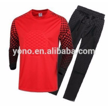 2017 top quality youth dri-fit goalkeeper clothing soccer jerseys wholesale