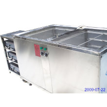 os tanques duplos datilografam o líquido de limpeza ultra-sônico para vendas