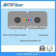 GJXH-4core G657A FTTH cable de fibra óptica con chaqueta negra LSZH