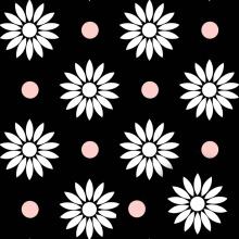 Gänseblümchen Polyester Digitaldruck Rock Kontraststoff