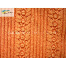 Nylon poliéster Jacquard mezcla a pana tela de materia textil casera