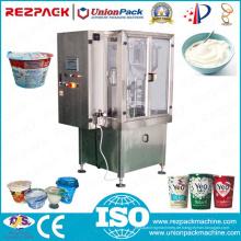 Automatische Joghurt Wiegen Füllen Abdichtung Kunststoff Tasse Verpackungsmaschine (RZ-R / 2R / 3R)