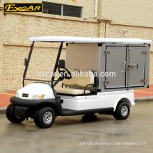 tipo elétrico do combustível dos assentos do carro de golfe 2 e carro de golfe elétrico com caixa da carga