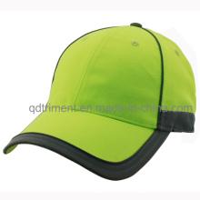 Seguridad reflectante 100% tela de poliéster Custom Baseball Cap (TMB0682-1)