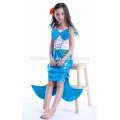 Custom made fashion mermaid cosplay costume blue color party wear princess dress girls for girls