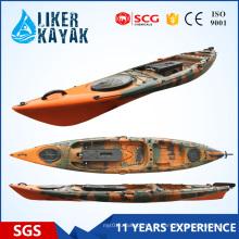 PE Hot Sale 4.3m Caia Pesca Caiaque Liker Kayak Sentar em Tops